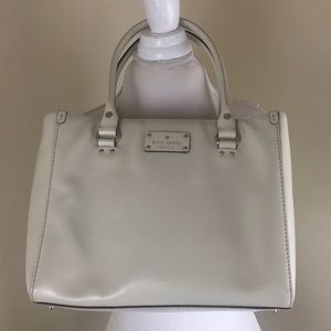 Kate Spade Leather Cream Tote